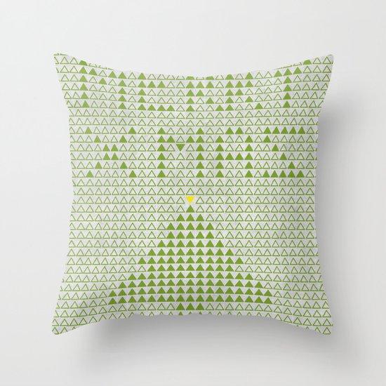 triangular wishes Throw Pillow