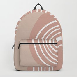 Abstract Rainbow, Pink and White Art Backpack