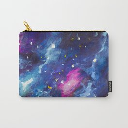 Blue violet cosmos, universe, star galaxies Original oil painting. Modern art. Hand-drawn art. Carry-All Pouch