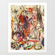 Smoke & Feng Shui Art Print