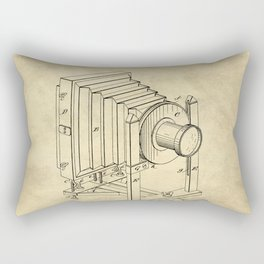 Industrial Farmhouse Blueprint Camera Rectangular Pillow