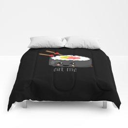 Eat Me in black Comforters
