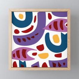 Fishes Pattern Illustration Kids Art Framed Mini Art Print