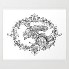 Fancy Xenomorph Art Print