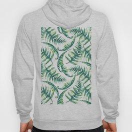 Lush green fern leafs pattern Hoody