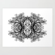 The wonderful world of trees. Art Print