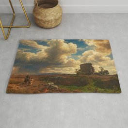 Landscape in Campagna Italy with Gathering Storm by Oswald Achenbach Rug