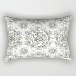 Openwork pattern on a white background. Rectangular Pillow