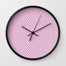 Chicken Wire Blush Wall Clock