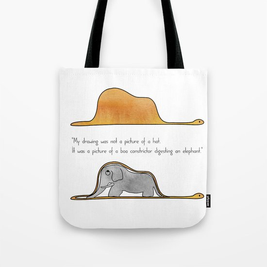 The Little Prince, a hat or a boa constrictor? Tote Bag