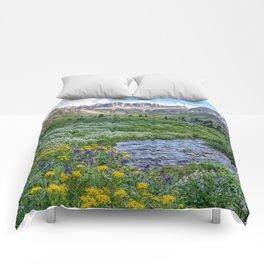 AMERICAN BASIN COLORADO MOUNTAIN SUMMER LANDSCAPE PHOTOGRAPHY Comforters