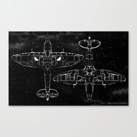 Spitfire Mk. XIV (white) Canvas Print