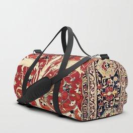Silk Heriz Azerbaijan Northwest Persian Rug Print Duffle Bag