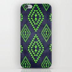 Navy & Lime tribal inspired print iPhone & iPod Skin
