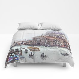 Venice Italy Canal Comforters