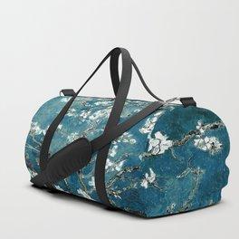 Van Gogh Almond Blossoms : Dark Teal Sporttaschen