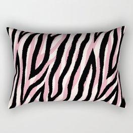 Fur mix texture - pastel zebra 01 Rectangular Pillow