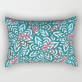 I don't need to improve - Turquoise and pink Rectangular Pillow