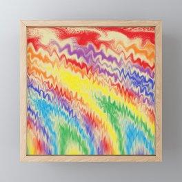 Raging Rainbow Fire Lines Framed Mini Art Print