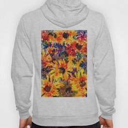 Golden Sunflower Garden Hoody