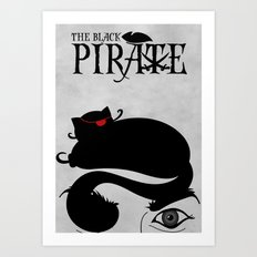 The Black Pirate Art Print