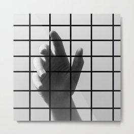 Caged Hand 1 Metal Print