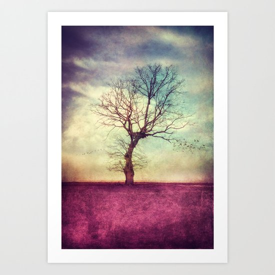 ATMOSPHERIC TREE Art Print