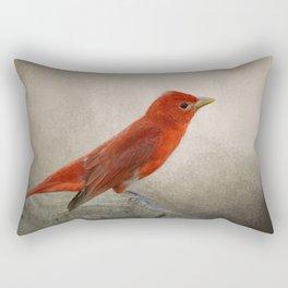 Song of the Summer Tanager 2 - Birds Rectangular Pillow