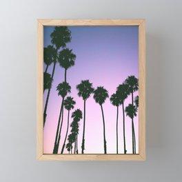Palm Tree Purple Sunset Framed Mini Art Print
