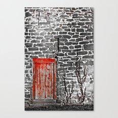 Enter The Red Door Canvas Print