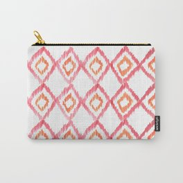 Fiery Coral - aztec watercolour pattern Carry-All Pouch