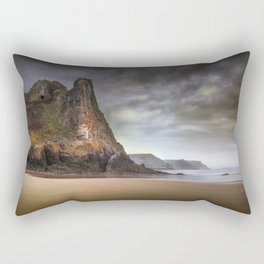 The Great Tor in Gower Rectangular Pillow