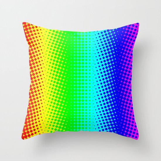 RAINBOW COLOR DOT Throw Pillow