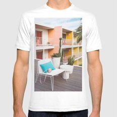 Palm Springs Vibes IV Mens Fitted Tee MEDIUM White