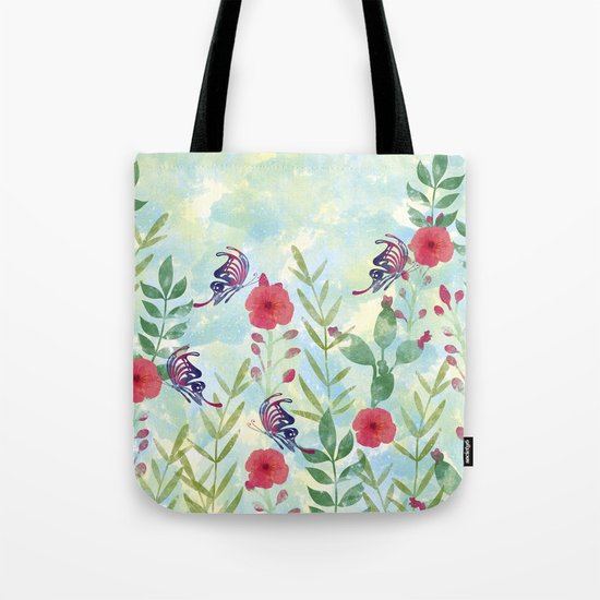 Watercolor floral garden  Tote Bag