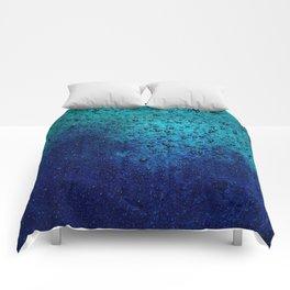 Sea Green Blue Texture Comforters
