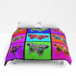 Psychedelic Butterflies Mosaic Comforters