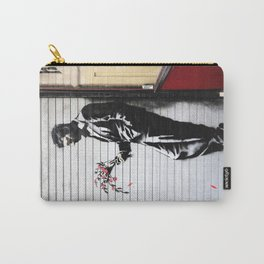 Banksy, Man with flowers Carry-All Pouch