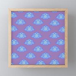 Lotus Pattern Violet/Lila Framed Mini Art Print