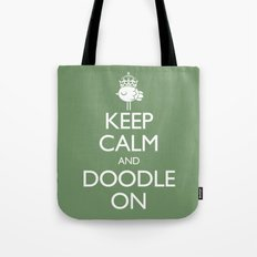 Keep Calm & Doodle On (Green) Tote Bag