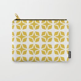 Mid Century Modern Star Pattern Mustard Yellow 551 Carry-All Pouch