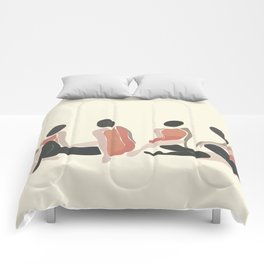 Woman Forms Comforters