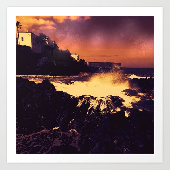 landscape, altered colors 06 Tenerife Art Print
