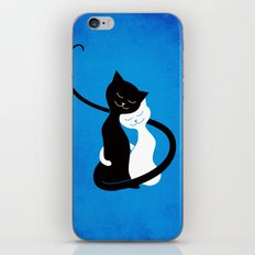 White And Black Cats In Love iPhone & iPod Skin