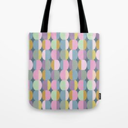 Colorful Pastel Ovals Geometric Pattern Tote Bag