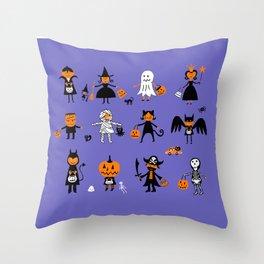 A Halloween Costume Contest Throw Pillow