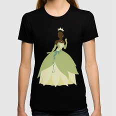 Tiana from Princess and the Frog Black MEDIUM Womens Fitted Tee