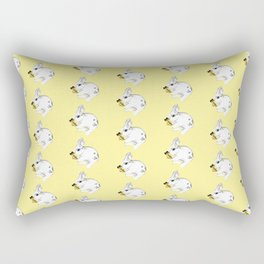 Some'bunny' Loves You...LOTS! (on yellow) Rectangular Pillow