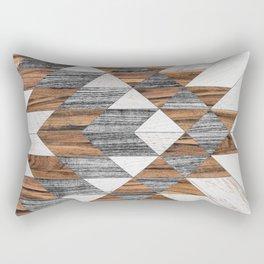 Urban Tribal Pattern No.12 - Aztec - Wood Rechteckiges Kissen