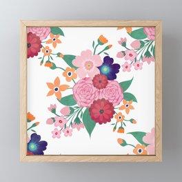 Pretty summer flowers design Framed Mini Art Print